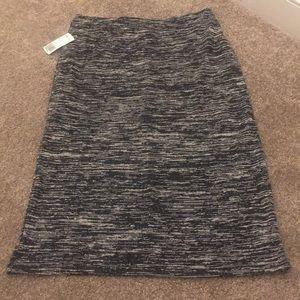 Forever 21 black and grey midi skirt Sz L NWT
